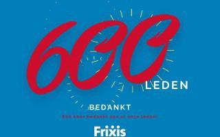 Frixis telt 600 leden!
