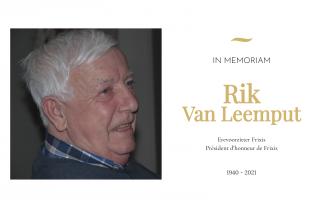 In memoriam – Rik Van Leemput